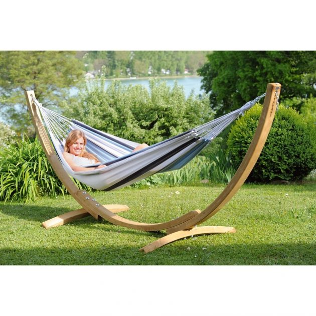 Blue Striped Hammock Set -0
