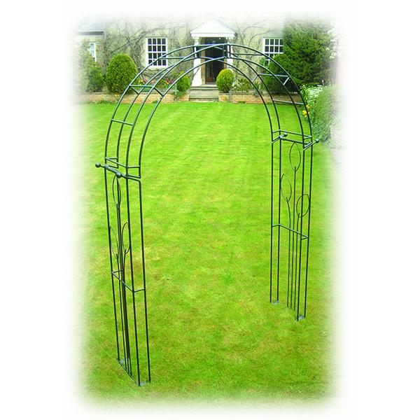 Black Steel Flower Design Archway