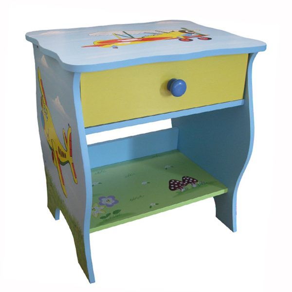 Transport Blue Bedside Table