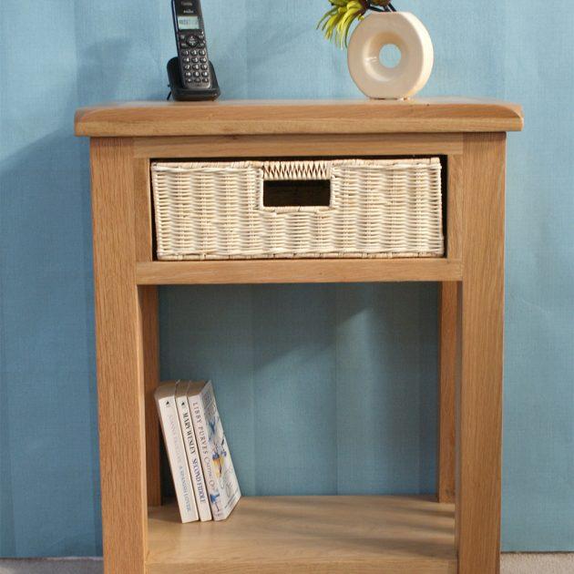 Pembury 1 Drawer Oak Telephone Table-0