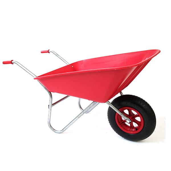 Red 85L Plastic Wheelbarrow