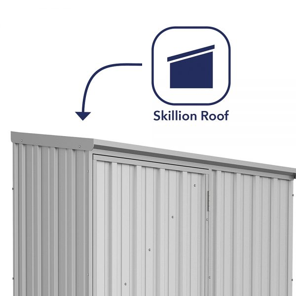 Space Saver Shed 1.52m x 0.78m in Zinc Grey_1
