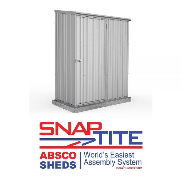 Space Saver Shed 1.52m x 0.78m in Zinc Grey_5