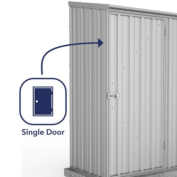 Space Saver Shed 1.52m x 0.78m in Zinc Grey_2