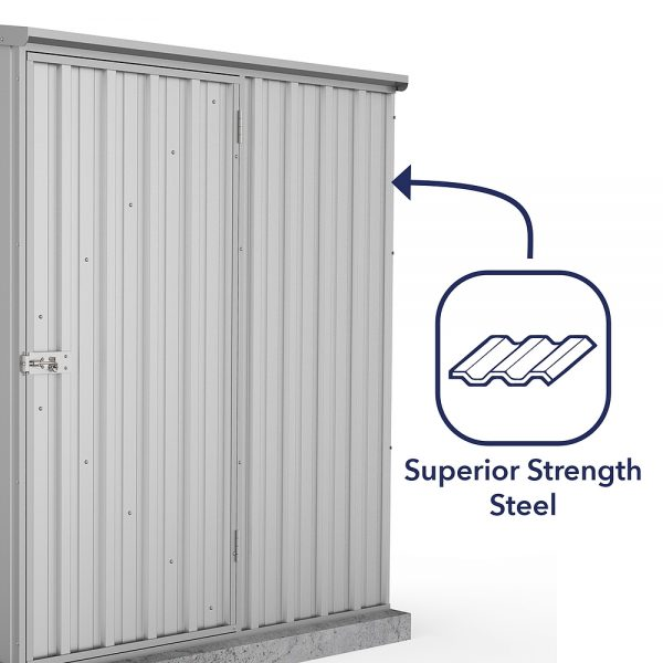 Space Saver Shed 1.52m x 0.78m in Zinc Grey_3