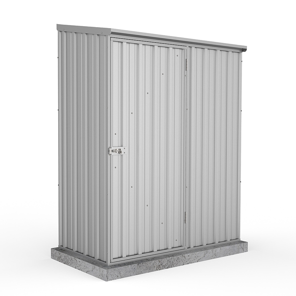 Space Saver Shed 1.52m x 0.78m in Zinc Grey
