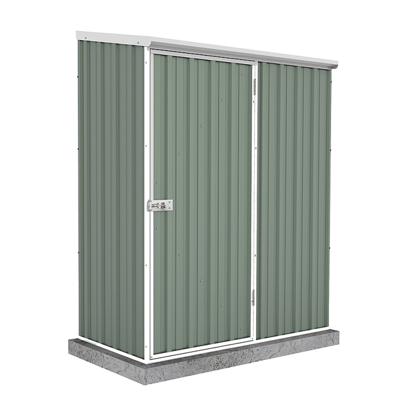 Space Saver Shed 1.52m x 0.78m - Pale Eucalyptus Colour