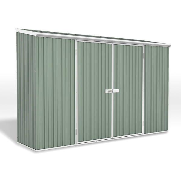 Space Saver Metal Shed 3m x 1.52m - Pale Eucalyptus Colour