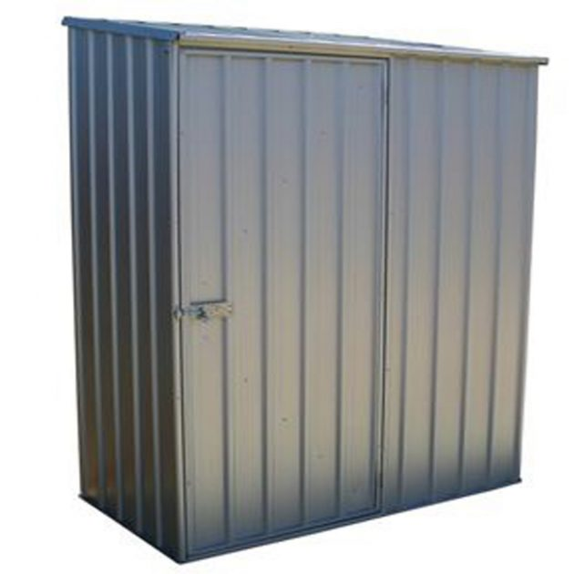 Space Saver Shed 1.52m x 0.78m in Zinc Grey or Pale Eucalyptus Colour-0