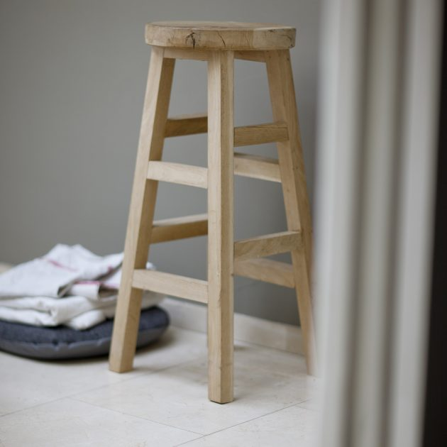 Raw Oak Tall Seating Stool-0