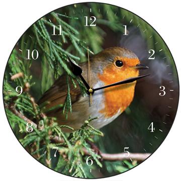 Robin Redbreast Bird Wall Clock-0