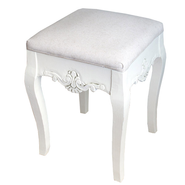 Casamoré Devon White Stool