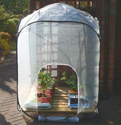 Pop-up Mesh Garden High Greenhouse 1.00m x 1.00m x 1.85m High-0