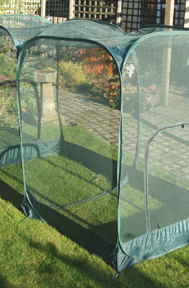 Double Pop-Up Garden Net Protection Cage 1.35m High x 2.50m Long x 1.25m Wide-0