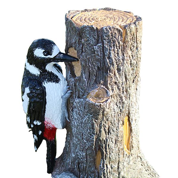 Spotted Woodpecker Garden Ornament