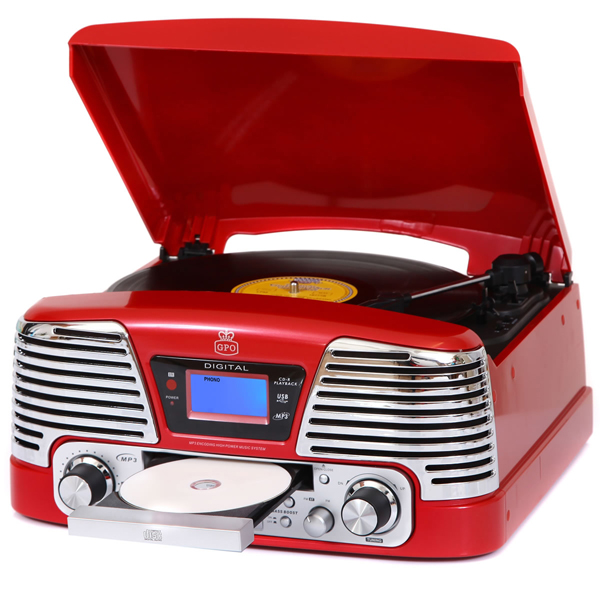 Memphis Record Player - Red-0