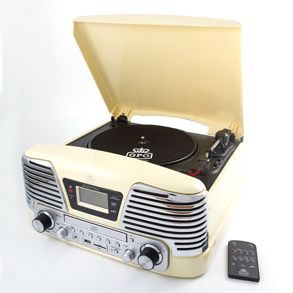 Memphis Record Player - Cream-0