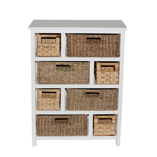 Casamoré Camber Natural 8 Drawer Storage Chest