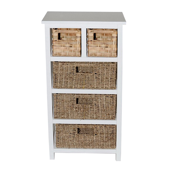 Casamoré Camber Natural 5 Drawer Tallboy