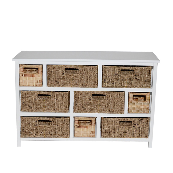 Casamoré Camber Natural 9 Drawer Storage Chest
