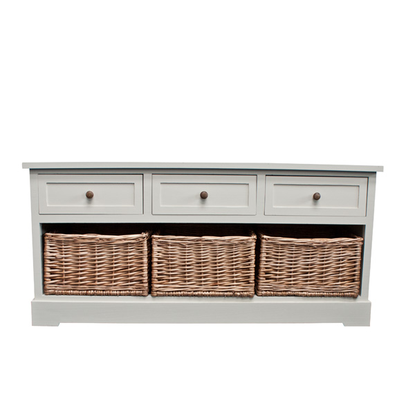 Casamoré Gloucester 3 Drawer 3 Basket Storage Bench