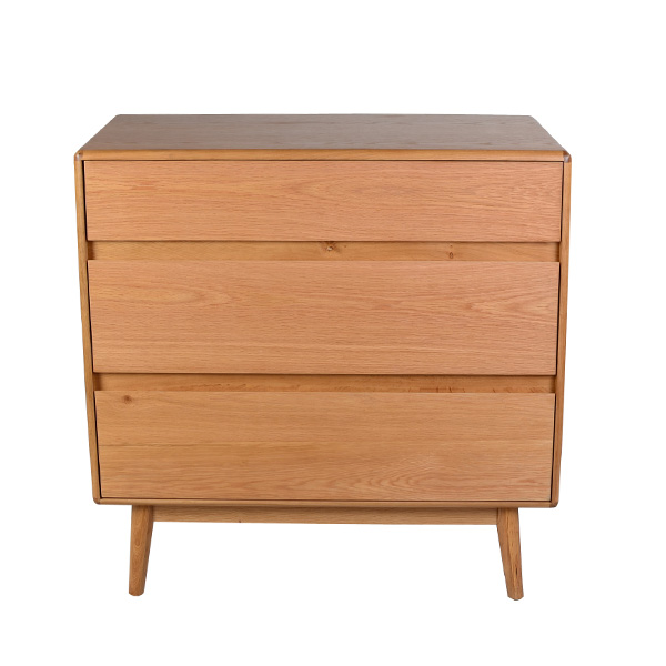 Casamoré Retro Oak 3 Drawer Chest