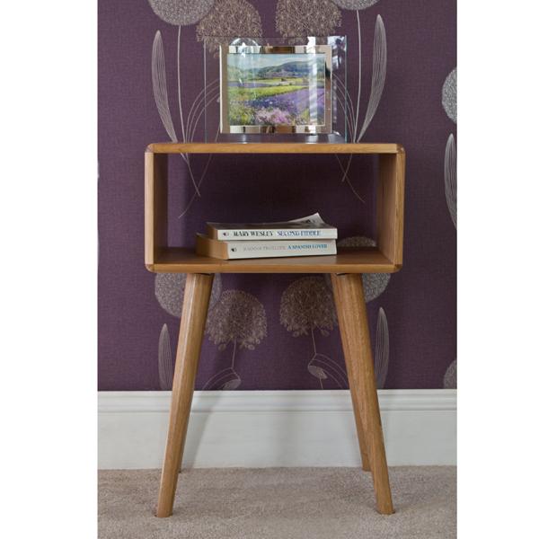 Casamoré Retro Oak Bedside Table_1