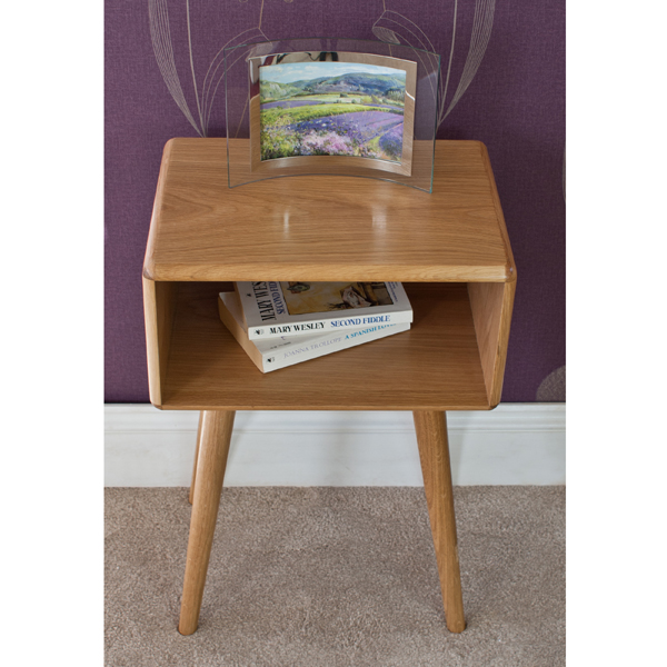 Casamoré Retro Oak Bedside Table_4
