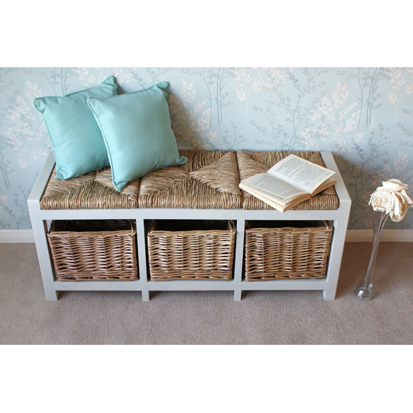 Gloucester 3 Seater Storage Bench-6078