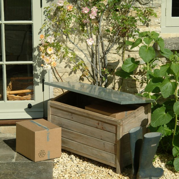 Large Outdoor Wooden Storage Box Unit-0