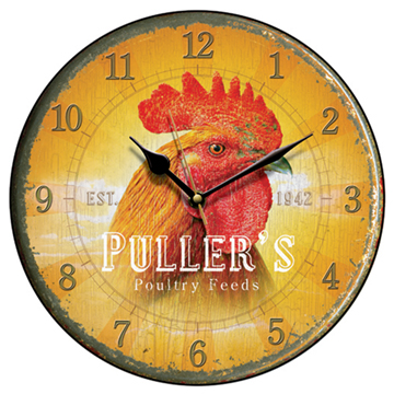 Puller's Poultry Feed Wall Clock-0