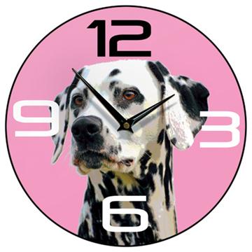 Dalmatian Wall Clock Pink-0