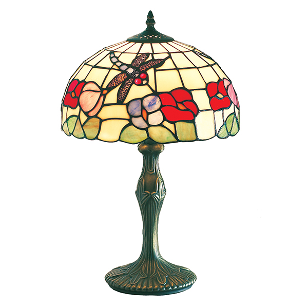 Beige Tiffany Table Lamp