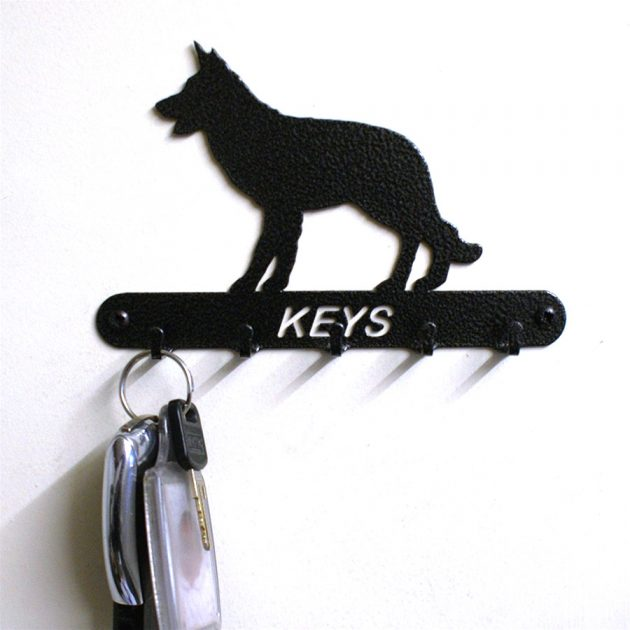 Alsatian Key Holder-0