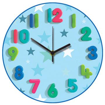 Blue Stars Wall Clock-0