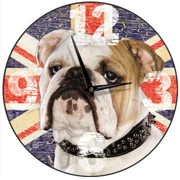 British Bulldog Wall Clock-0