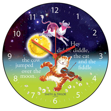 Cow Jumped Over the Moon Wall Clock-0