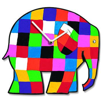 Elmer the Elephant Wall Clock-0