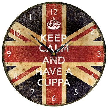 Keep Calm and Have a Cuppa Wall Clock-0