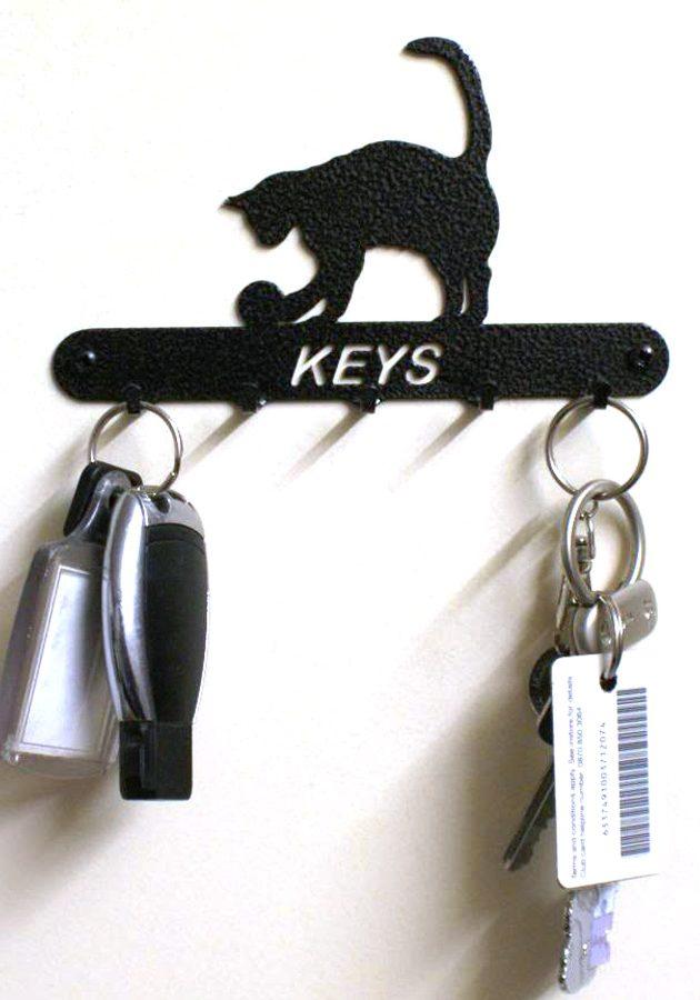 Cat & Ball Key Holder