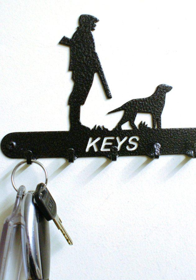 Man & Dog Key Holder