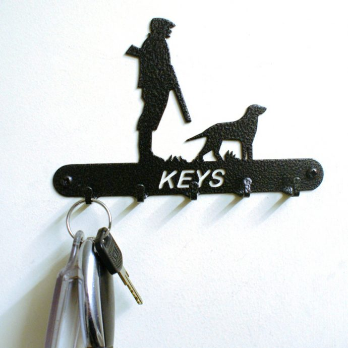 Man & Dog Key Holder
