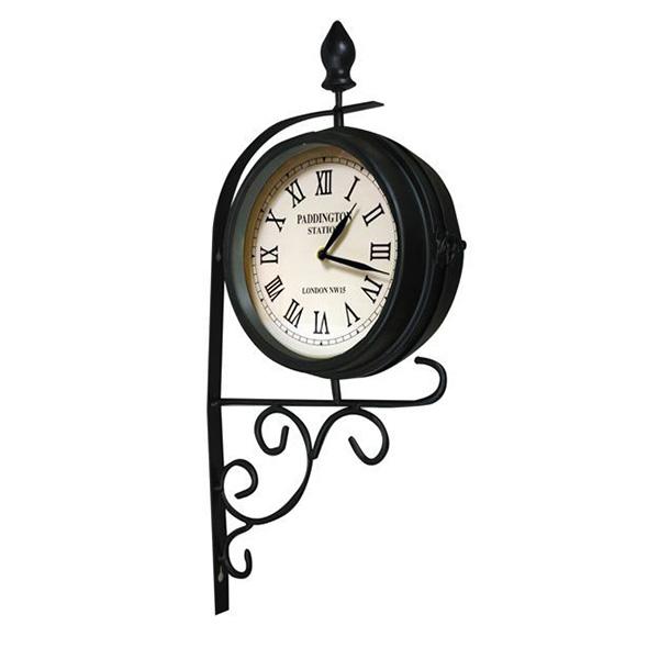 Vintage Station Style Garden Clock