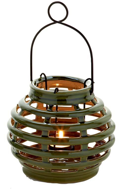 Green LED Solar Garden Lantern-0