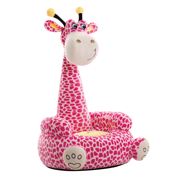 Plush Giraffe Sitting Chair Pink