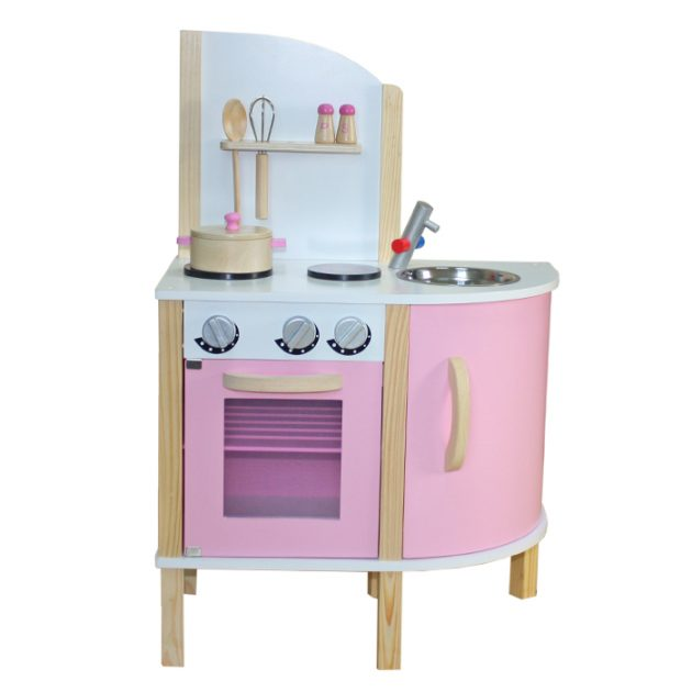 Pink Modern Wooden Kitchen-0