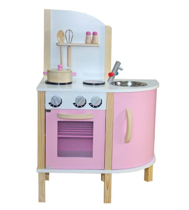 Pink Modern Wooden Kitchen-0
