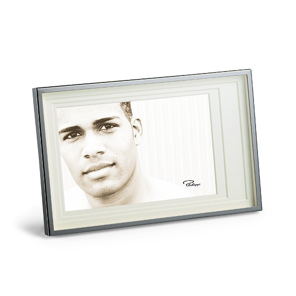 Small Sectioned Silver Photo Frame-0