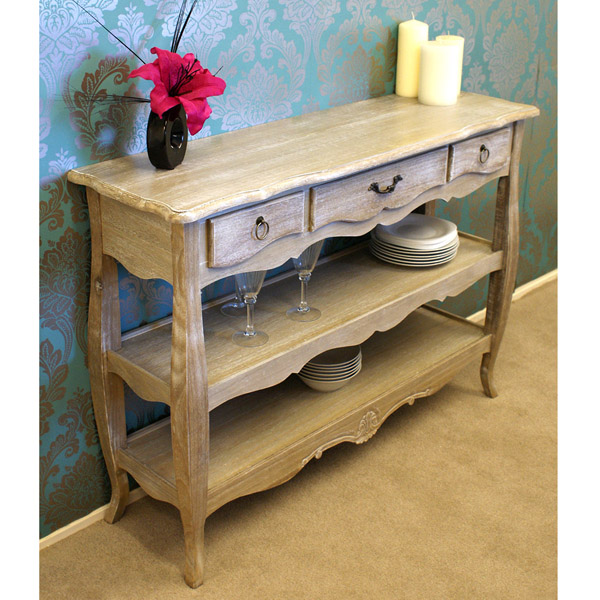 Casamoré Bordeaux 3 Drawer 2 Shelf Console_1