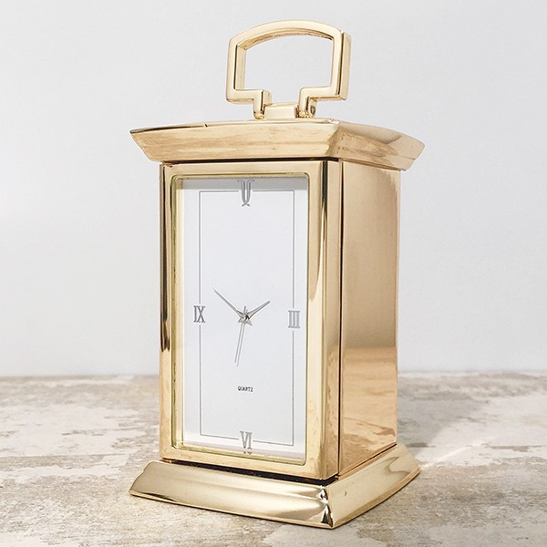 Gold Finish Carriage Clock-0
